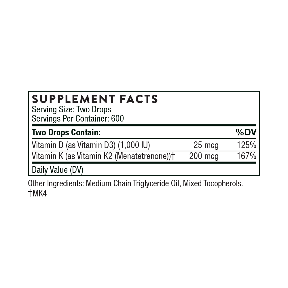 Vitamin Dk2 Liquid Thorne