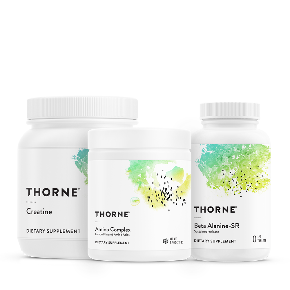 Thornes Training Bundle supports and enhances energy production, muscle endurance, and power output to help athletes maximize training.* All three products are NSF Certified for Sport.